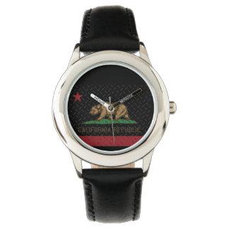 California Republic Black Diamond Plate Wrist Watch