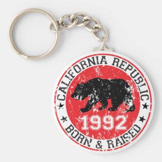 california republic born raised 1992 key chains