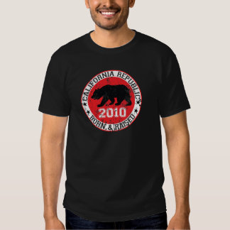 California republic born raised 2000 tshirts