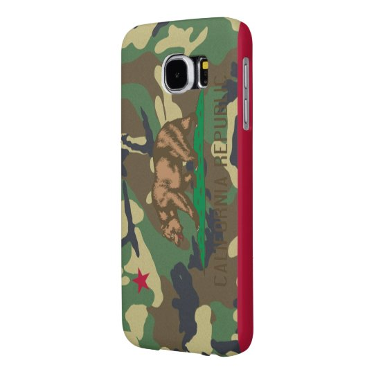 California Republic Camouflage Flag Samsung Galaxy S6 Cases