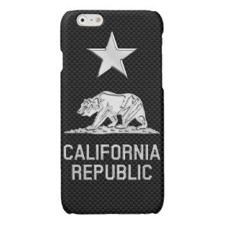 CALIFORNIA REPUBLIC Chrome on Carbon Fiber Print iPhone 6 Plus Case