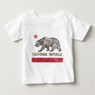 california republic distressed baby T-Shirt