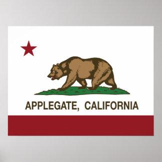 California REpublic Flag Applegate Print