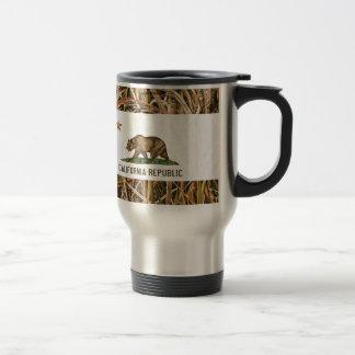 California Republic Flag Bear Camo Stainless Steel Travel Mug