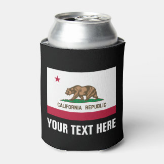 California Republic flag can coolers beer holders
