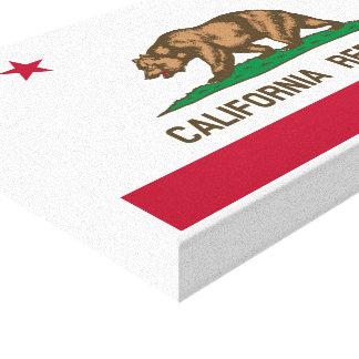 California Republic Flag Stretched Canvas Prints