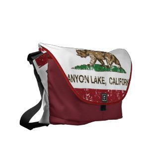 California Republic Flag Canyon Lake Messenger Bag