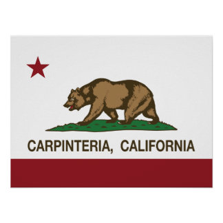 California Republic Flag Carpinteria Posters