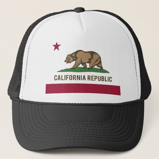 California Republic Flag - Colour Trucker Hat