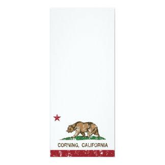 California Republic Flag Corning Personalized Announcement