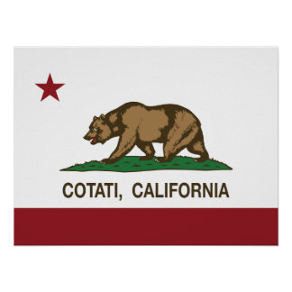 California Republic Flag Cotati Poster