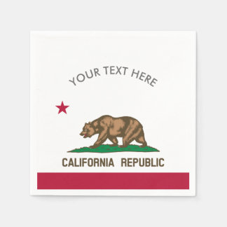 California Republic flag custom party napkins Paper Napkin