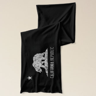 California Republic Flag Distressed Scarf