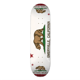 California Republic Flag Emeryville Skate Board Deck