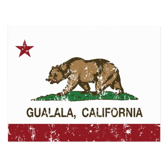 California Republic Flag Gualala Postcard