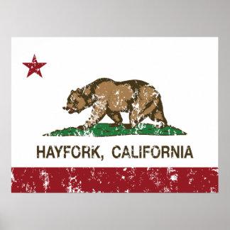 California Republic Flag Hayfork Poster