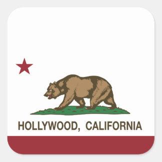 California Republic Flag Hollywood Square Sticker