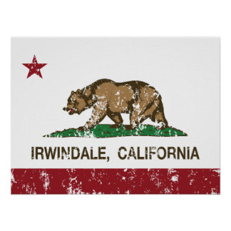 California Republic Flag Irwindale Print