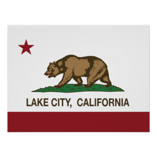 California Republic Flag Lake City Poster