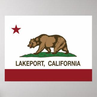 California Republic Flag Lakeport Poster