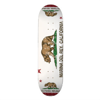 California Republic Flag Marina Del Rey Skateboard
