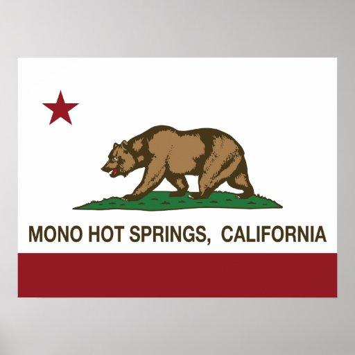 California Republic Flag Mono Hot Springs Posters