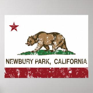 California Republic Flag Newbury Park Print