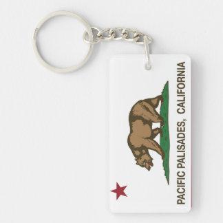 California Republic Flag Pacific Palisades Key Ring
