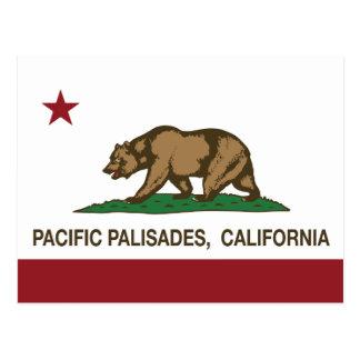 California Republic Flag Pacific Palisades Post Card
