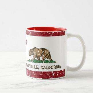 California Republic Flag Placerville Two-Tone Mug