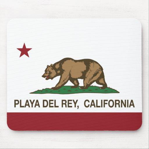 California Republic Flag Playa Del Rey Mousepads