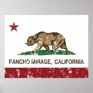 California Republic Flag Rancho Mirage Poster