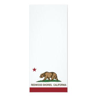 California Republic Flag Redwood Shores Personalized Announcements