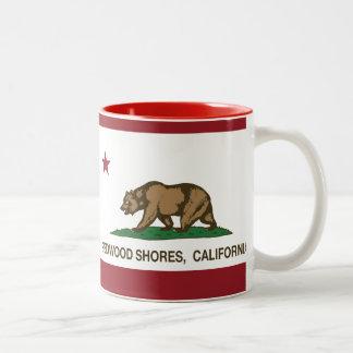California Republic Flag Redwood Shores Mugs