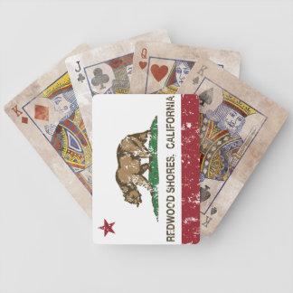 California Republic Flag Redwood Shores Bicycle Poker Deck