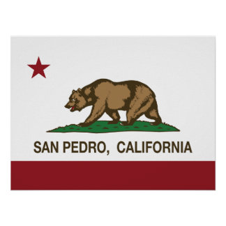 California Republic Flag San Pedro Print
