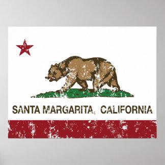 California Republic Flag Santa Margarita Poster