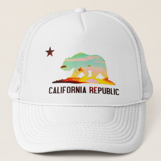 California Republic Flag Sunset Hat