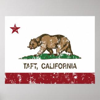 California Republic Flag Taft Poster