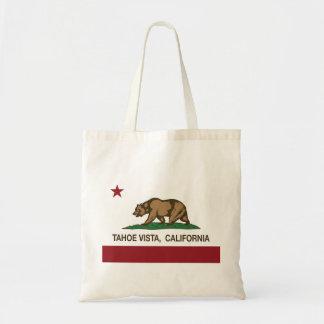 California Republic Flag Tahoe Vista Canvas Bag
