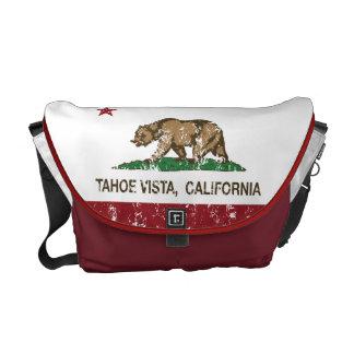 California Republic Flag Tahoe Vista Messenger Bag