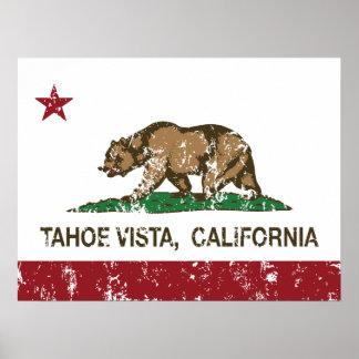 California Republic Flag Tahoe Vista Poster