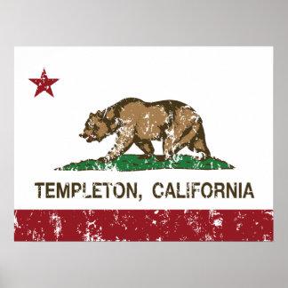 California Republic Flag Templeton Print