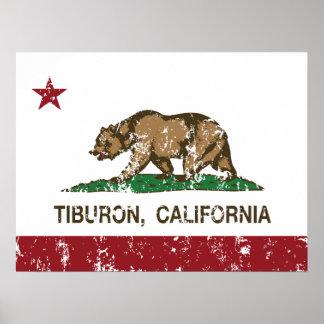 California REpublic Flag Tiburon Poster