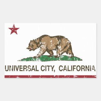 California Republic Flag Universal City Rectangular Stickers