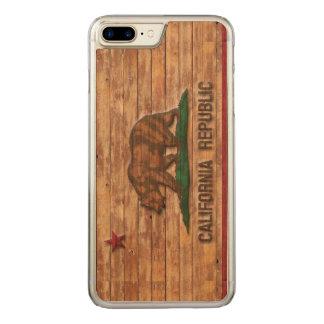 California Republic Flag Vintage Carved iPhone 7 Plus Case