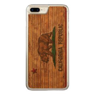 California Republic Flag Vintage Carved iPhone 8 Plus/7 Plus Case