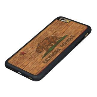 California Republic Flag Vintage Carved® Maple iPhone 6 Plus Bumper Case