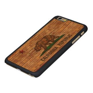 California Republic Flag Vintage Carved® Maple iPhone 6 Plus Case