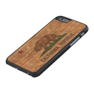 California Republic Flag Vintage Carved® Maple iPhone 6 Slim Case